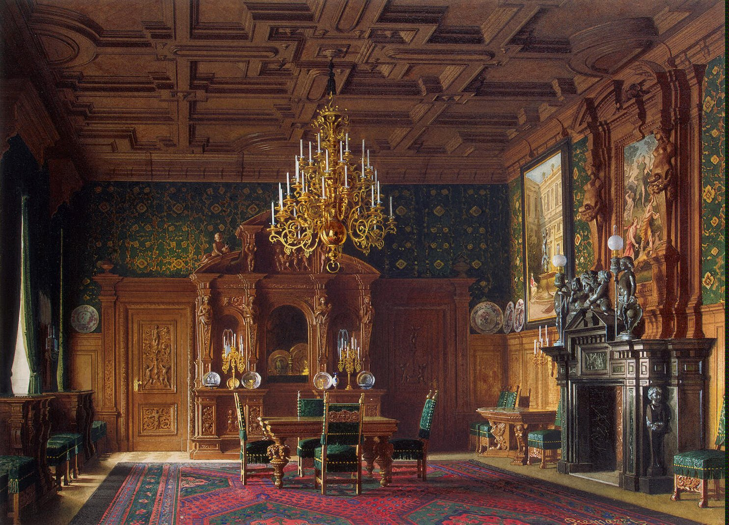 Premazzi_Luigi-ZZZ-Mansion_of_Baron_A.L._Stieglitz._The_Dining-room